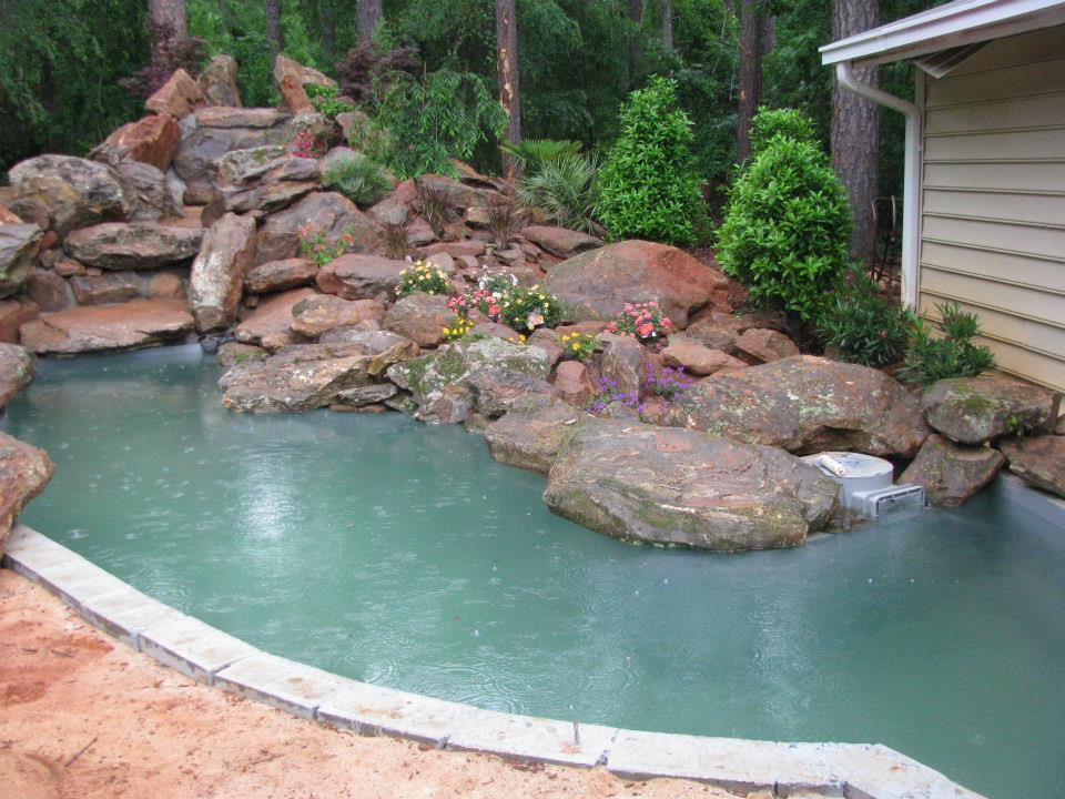 Pond coatings for koi retention and gardens seal tite for Large koi pool