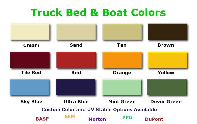 Colored Bed Liner Spray : Pin spray in bedliners on